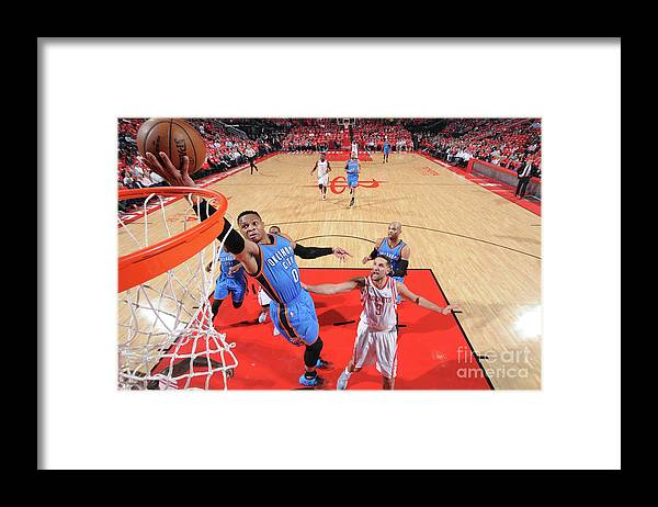 Playoffs Framed Print featuring the photograph Russell Westbrook by Bill Baptist