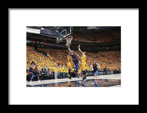 Playoffs Framed Print featuring the photograph Russell Westbrook by Melissa Majchrzak