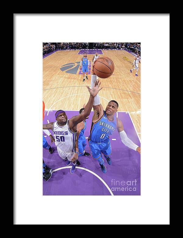 Nba Pro Basketball Framed Print featuring the photograph Russell Westbrook by Rocky Widner