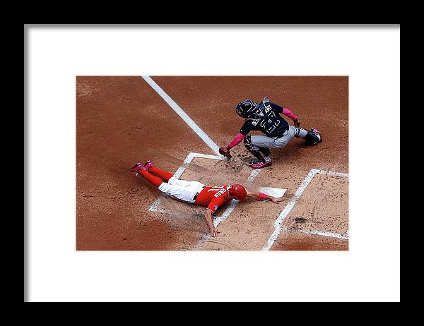 Baseball Catcher Framed Print featuring the photograph Ryan Zimmerman by Patrick Smith