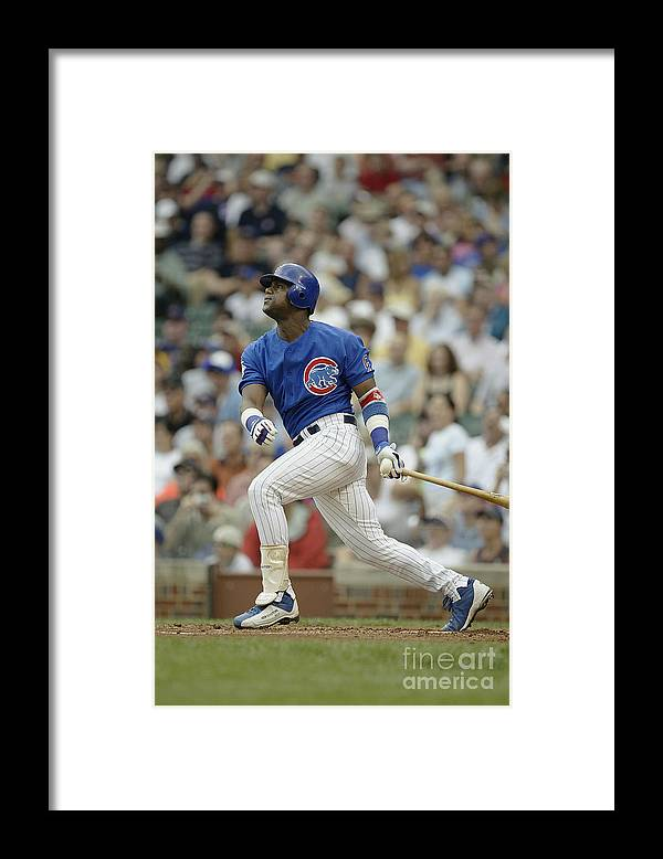National League Baseball Framed Print featuring the photograph Sammy Sosa by Ron Vesely