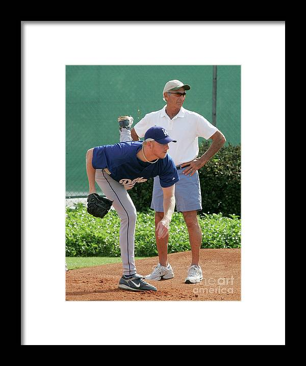 Sandy Koufax Framed Print featuring the photograph Sandy Koufax by Icon Sports Wire
