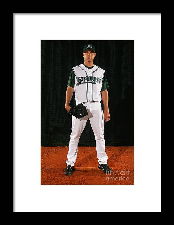 Media Day Framed Print featuring the photograph Scott Kazmir by Nick Laham