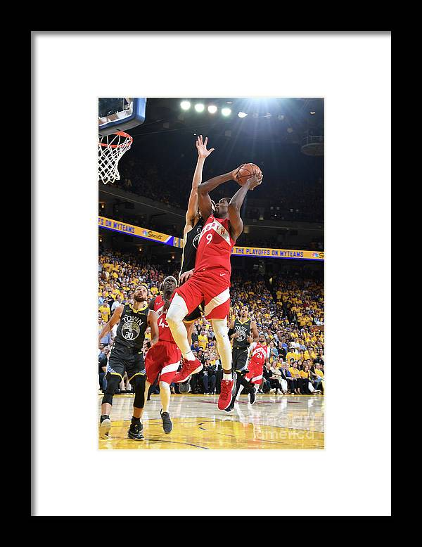 Playoffs Framed Print featuring the photograph Serge Ibaka by Andrew D. Bernstein