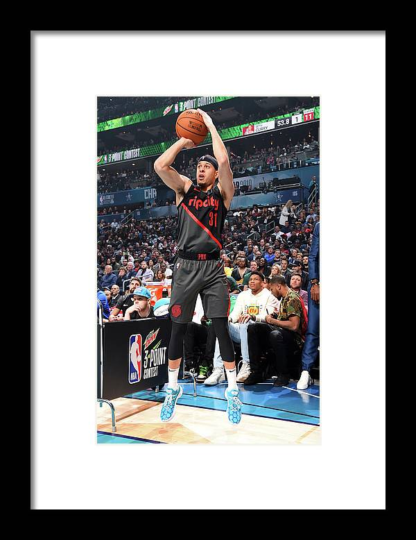 Nba Pro Basketball Framed Print featuring the photograph Seth Curry by Andrew D. Bernstein