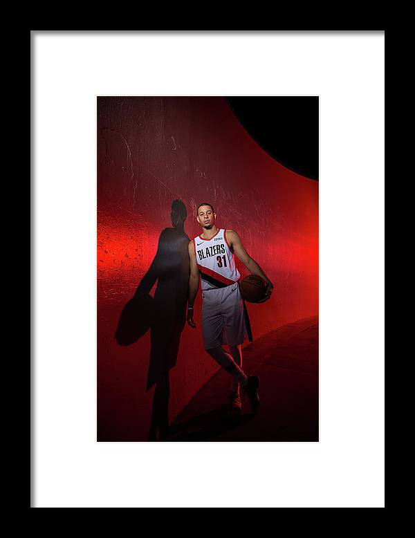 Media Day Framed Print featuring the photograph Seth Curry by Sam Forencich