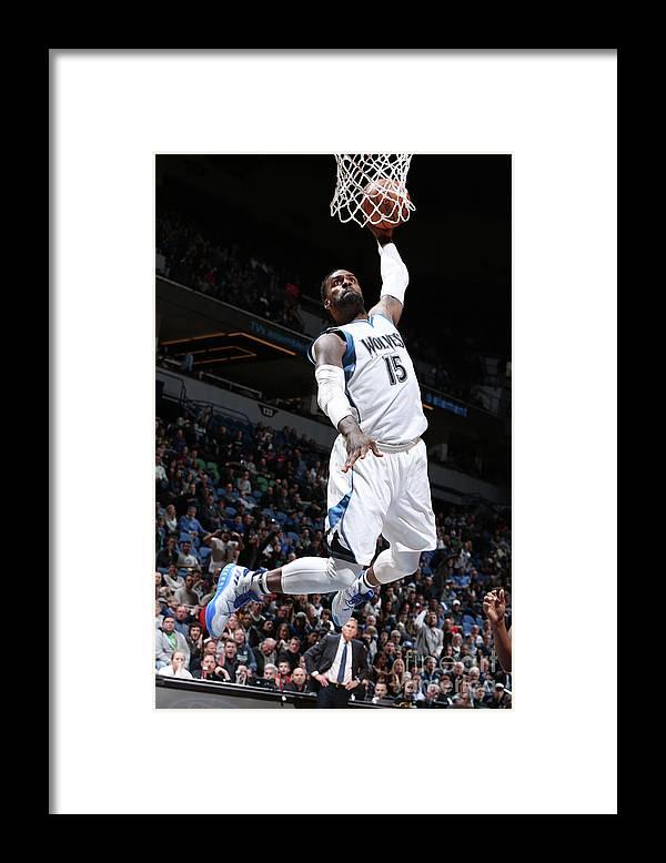 Nba Pro Basketball Framed Print featuring the photograph Shabazz Muhammad by David Sherman