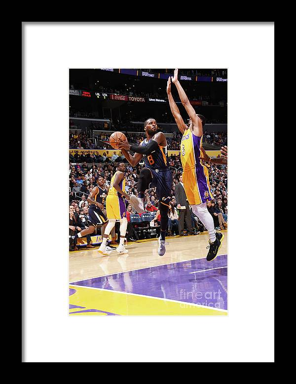 Nba Pro Basketball Framed Print featuring the photograph Shelvin Mack by Andrew D. Bernstein