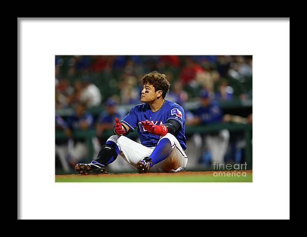 Ninth Inning Framed Print featuring the photograph Shin-soo Choo by Rick Yeatts