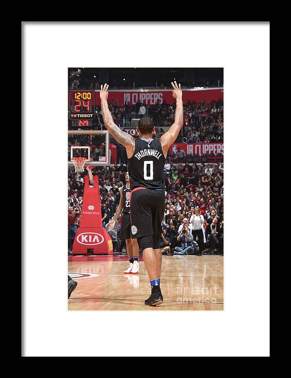 Nba Pro Basketball Framed Print featuring the photograph Sindarius Thornwell by Andrew D. Bernstein