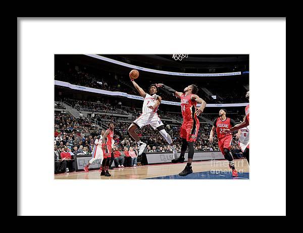 Nba Pro Basketball Framed Print featuring the photograph Stanley Johnson by Chris Schwegler