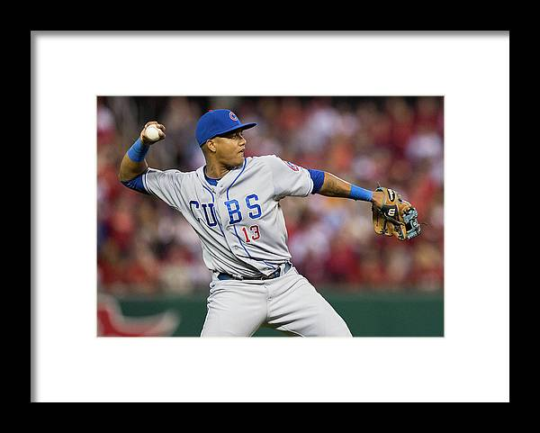 Second Inning Framed Print featuring the photograph Starlin Castro by David Welker