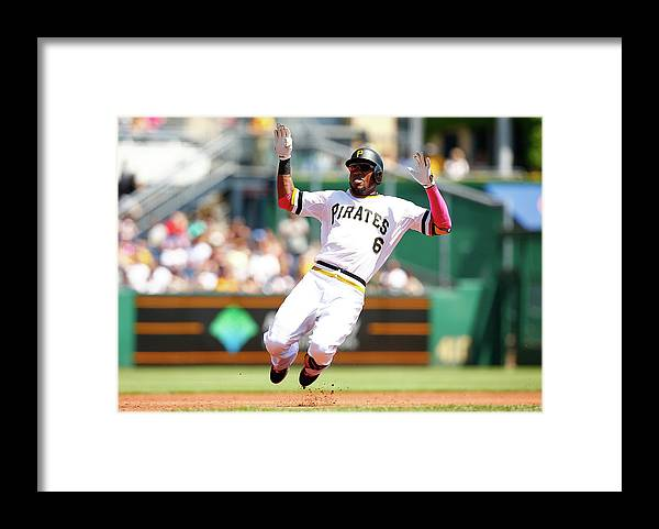 Following Framed Print featuring the photograph Starling Marte by Jared Wickerham