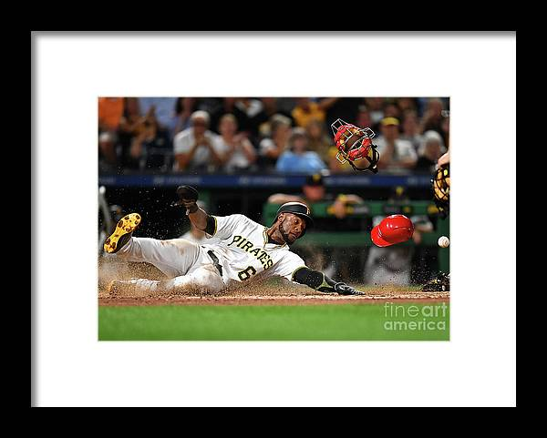 People Framed Print featuring the photograph Starling Marte by Joe Sargent