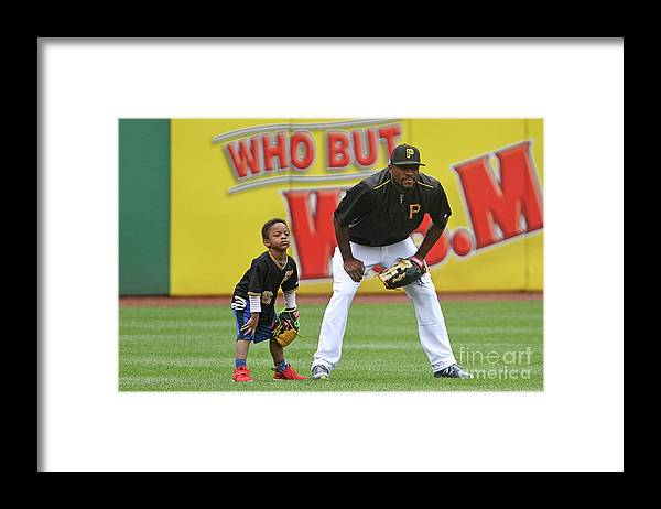 People Framed Print featuring the photograph Starling Marte by Justin Berl