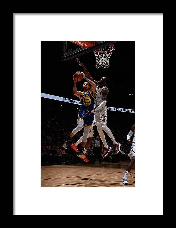 Nba Pro Basketball Framed Print featuring the photograph Stephen Curry by Bart Young
