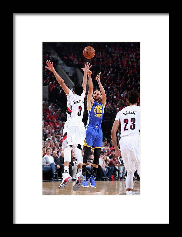 Playoffs Framed Print featuring the photograph Stephen Curry by Sam Forencich