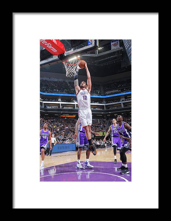 Nba Pro Basketball Framed Print featuring the photograph Steven Adams by Rocky Widner