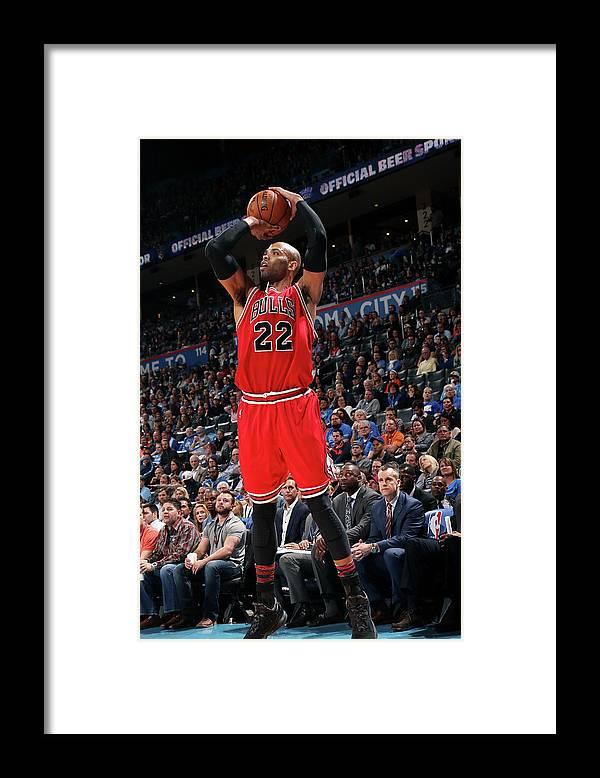 Nba Pro Basketball Framed Print featuring the photograph Taj Gibson by Layne Murdoch