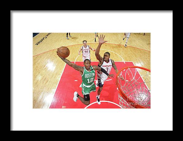 Playoffs Framed Print featuring the photograph Terry Rozier by Ned Dishman