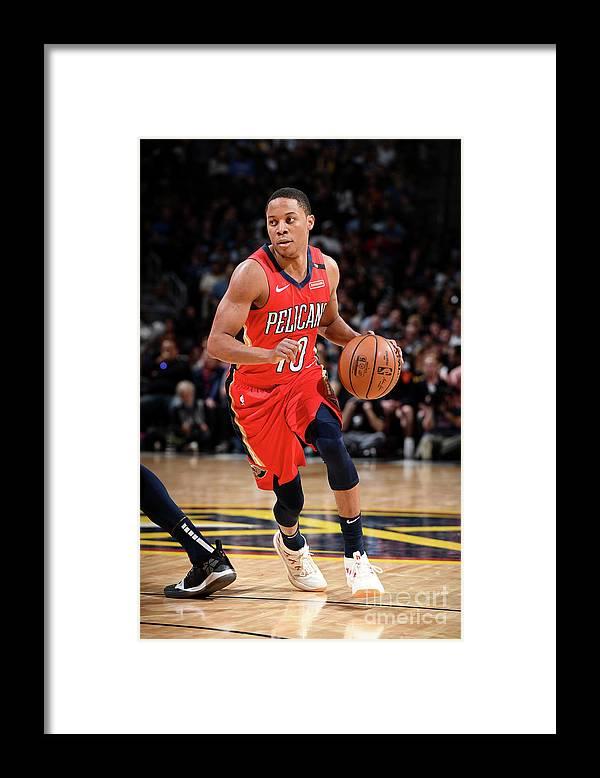 Nba Pro Basketball Framed Print featuring the photograph Tim Frazier by Garrett Ellwood