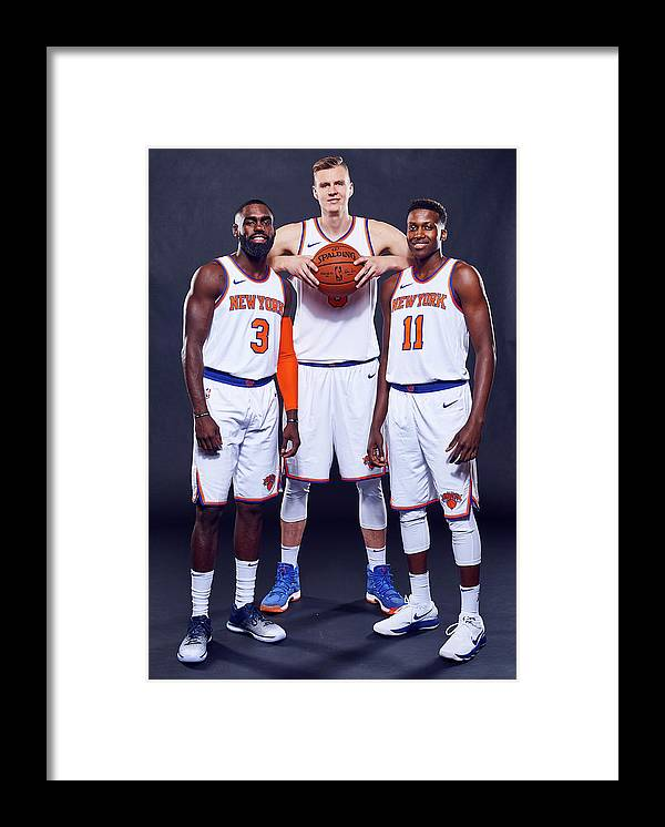 Media Day Framed Print featuring the photograph Tim Hardaway by Jennifer Pottheiser