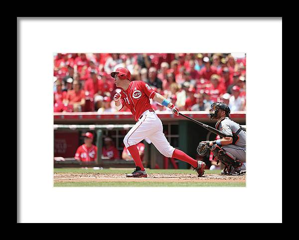 Great American Ball Park Framed Print featuring the photograph Todd Frazier by Andy Lyons
