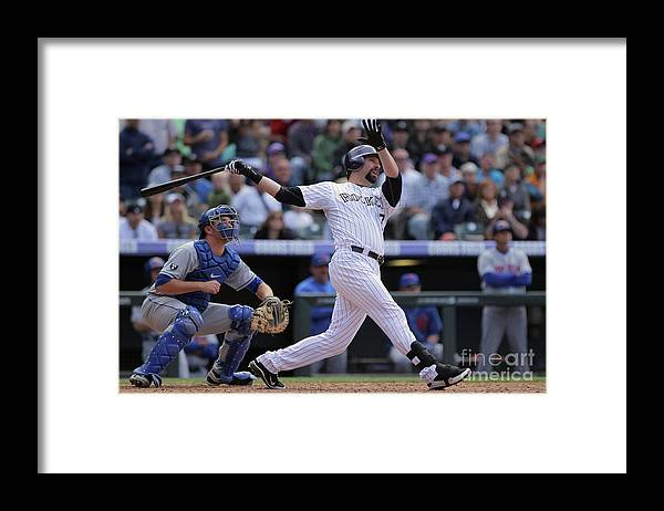 Relief Pitcher Framed Print featuring the photograph Todd Helton by Doug Pensinger