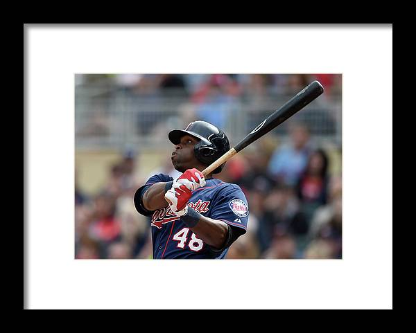 People Framed Print featuring the photograph Torii Hunter by Hannah Foslien