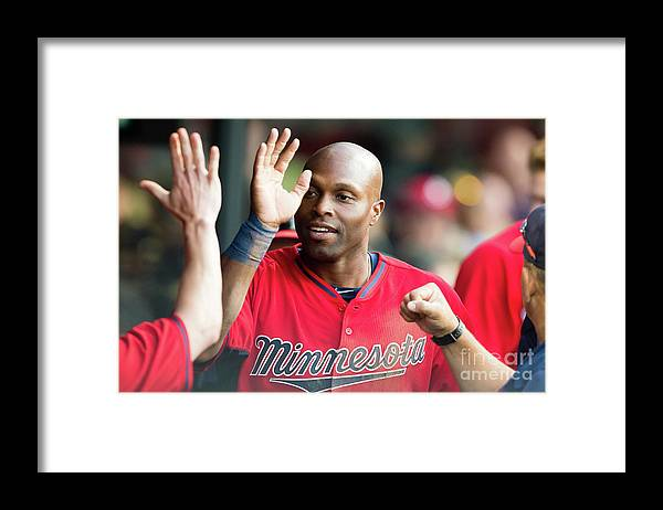 People Framed Print featuring the photograph Torii Hunter by Jason Miller