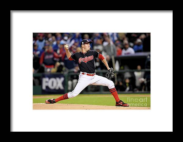 Game Two Framed Print featuring the photograph Trevor Bauer by Jason Miller