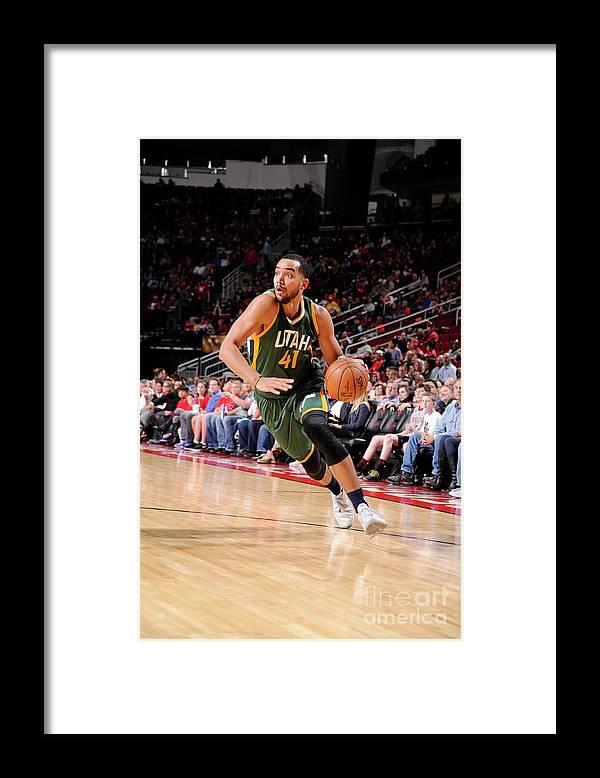 Nba Pro Basketball Framed Print featuring the photograph Trey Lyles by Bill Baptist