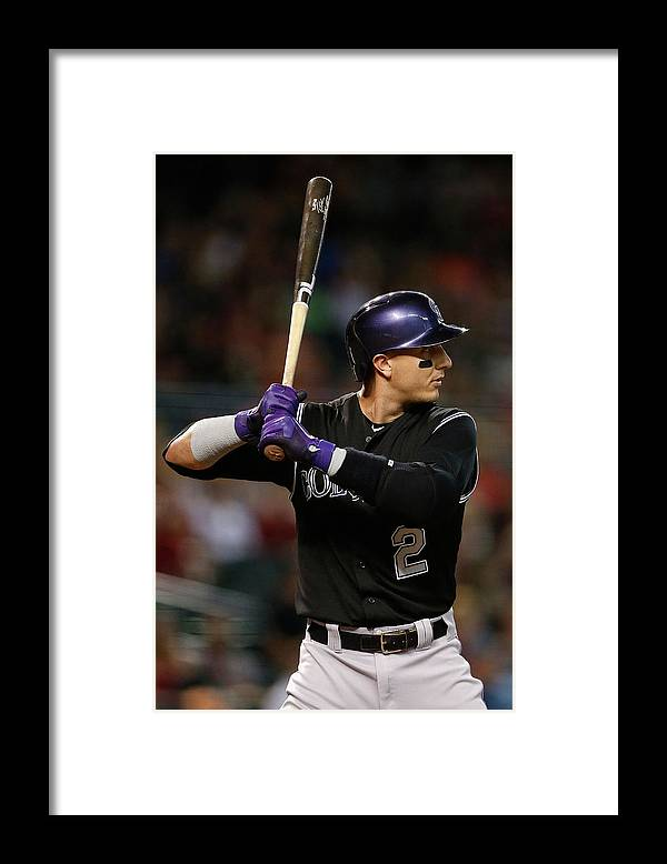 Three Quarter Length Framed Print featuring the photograph Troy Tulowitzki by Christian Petersen