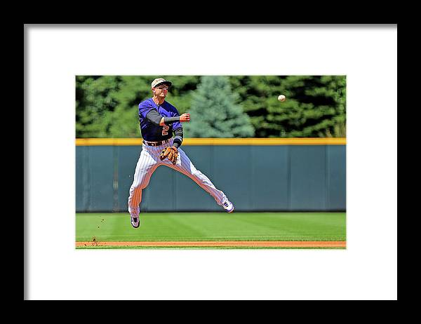 People Framed Print featuring the photograph Troy Tulowitzki by Justin Edmonds