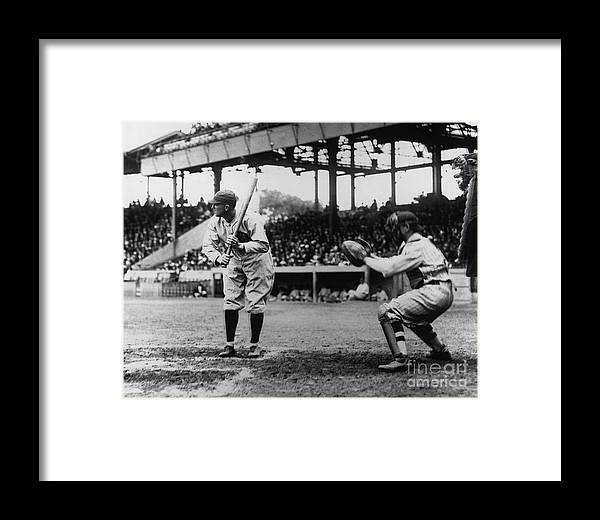 Baseball Catcher Framed Print featuring the photograph Ty Cobb by National Baseball Hall Of Fame Library