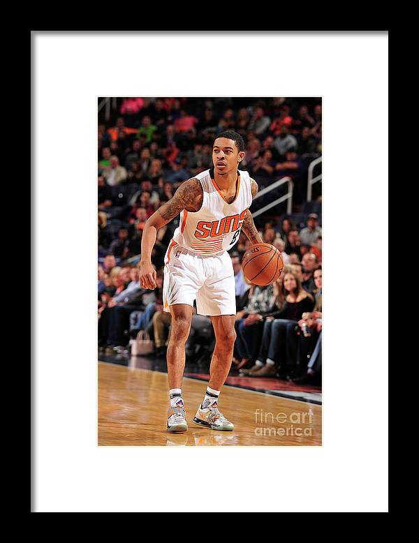 Nba Pro Basketball Framed Print featuring the photograph Tyler Ulis by Barry Gossage