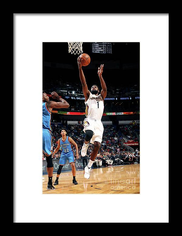 Smoothie King Center Framed Print featuring the photograph Tyreke Evans by Layne Murdoch