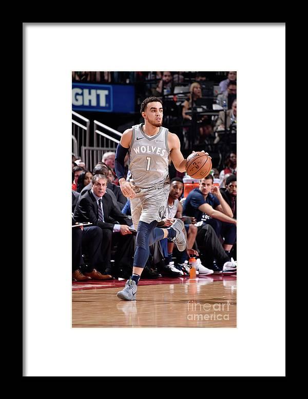 Playoffs Framed Print featuring the photograph Tyus Jones by Bill Baptist