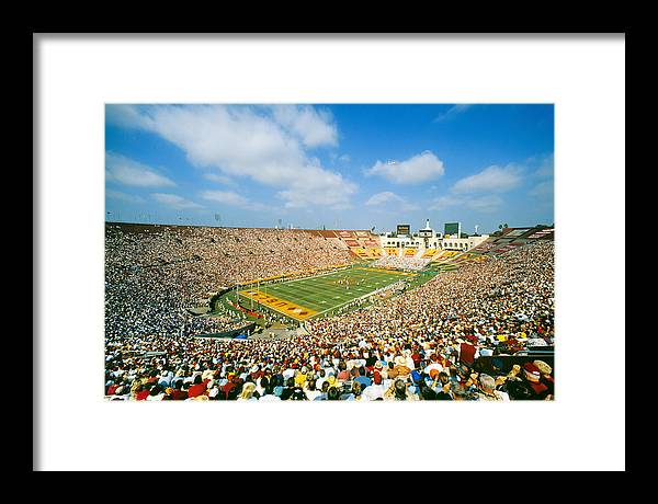 USC Trojans Football Game, The Coliseum, Los Angeles, California by Peter Bennett