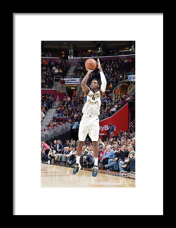 Nba Pro Basketball Framed Print featuring the photograph Victor Oladipo by David Liam Kyle