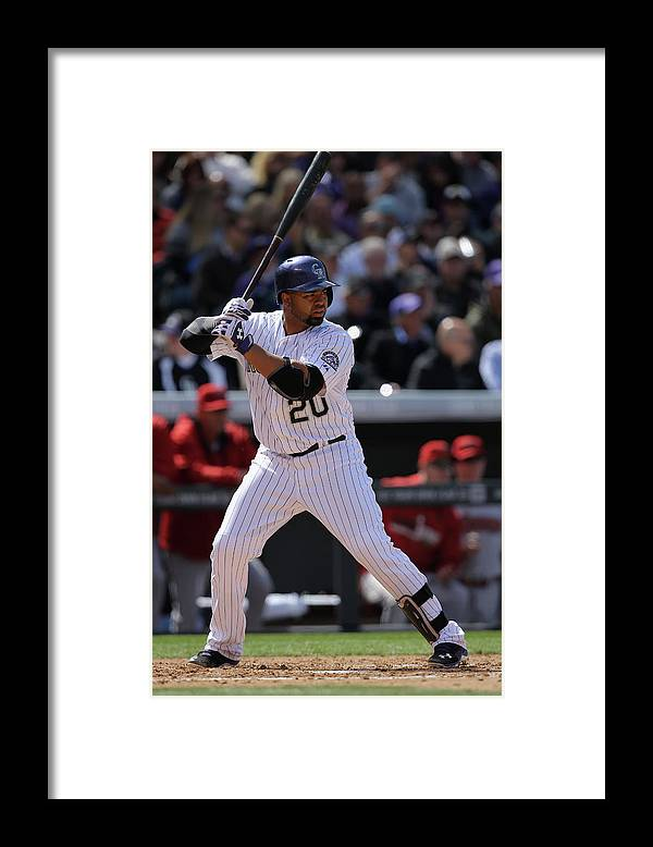Baseball Catcher Framed Print featuring the photograph Wilin Rosario by Doug Pensinger
