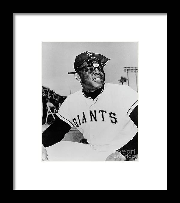 People Framed Print featuring the photograph Willie Mays by National Baseball Hall Of Fame Library