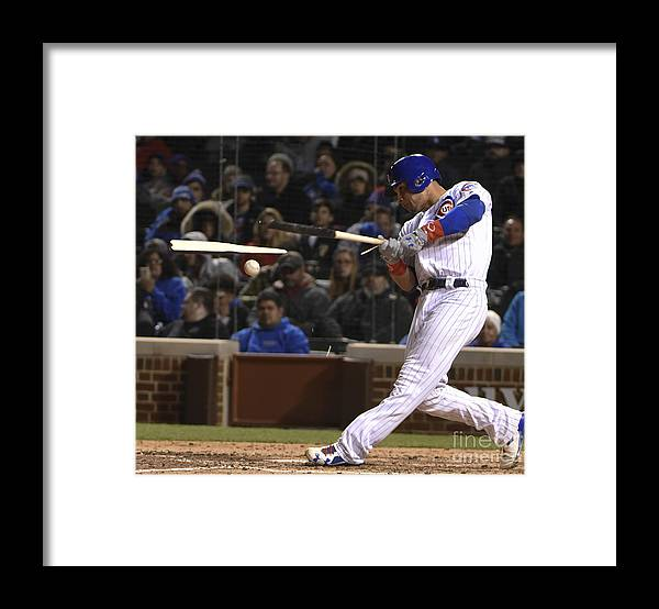 People Framed Print featuring the photograph Willson Contreras by David Banks