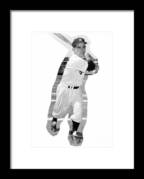 People Framed Print featuring the photograph Yogi Berra by Kidwiler Collection