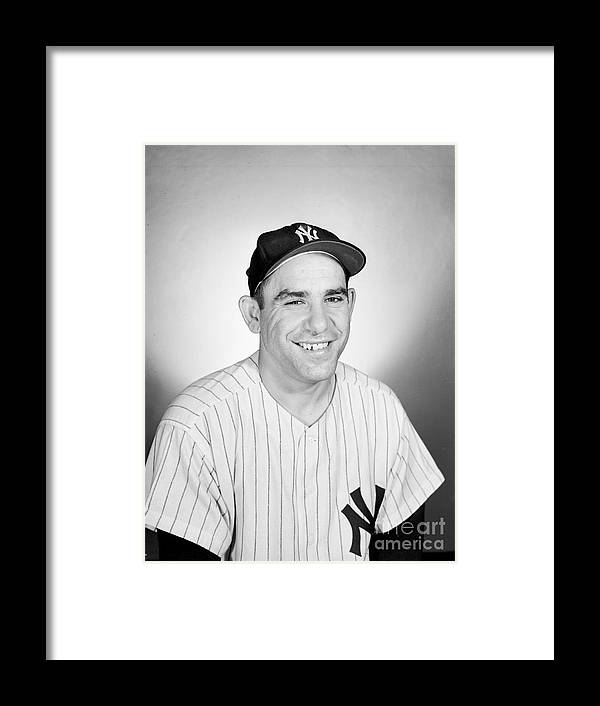 People Framed Print featuring the photograph Yogi Berra by Olen Collection