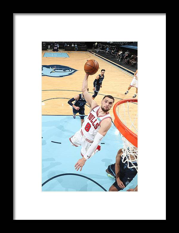 Nba Pro Basketball Framed Print featuring the photograph Zach Lavine by Joe Murphy