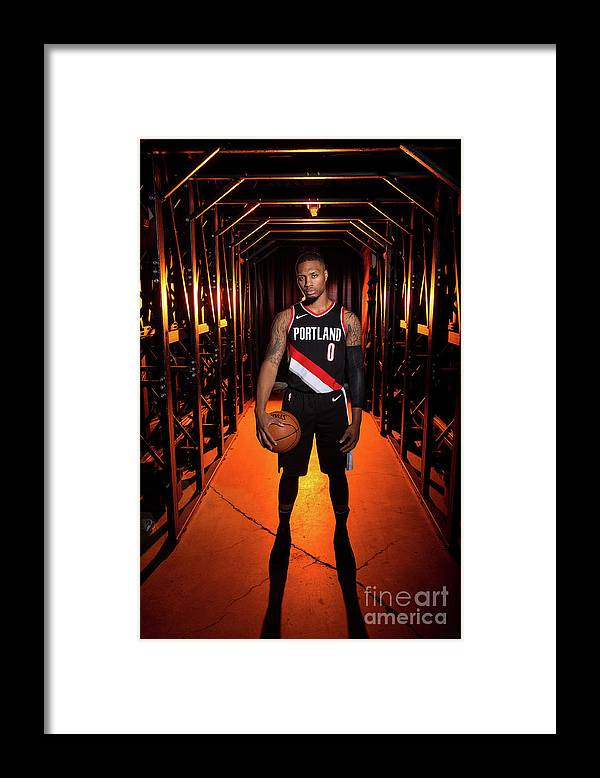 Media Day Framed Print featuring the photograph Damian Lillard by Sam Forencich