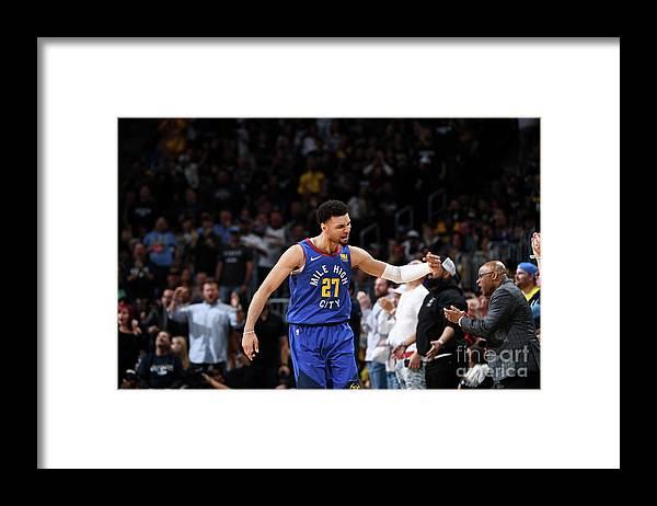 Playoffs Framed Print featuring the photograph Jamal Murray by Garrett Ellwood