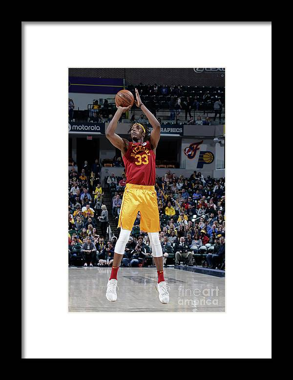 Nba Pro Basketball Framed Print featuring the photograph Myles Turner by Ron Hoskins