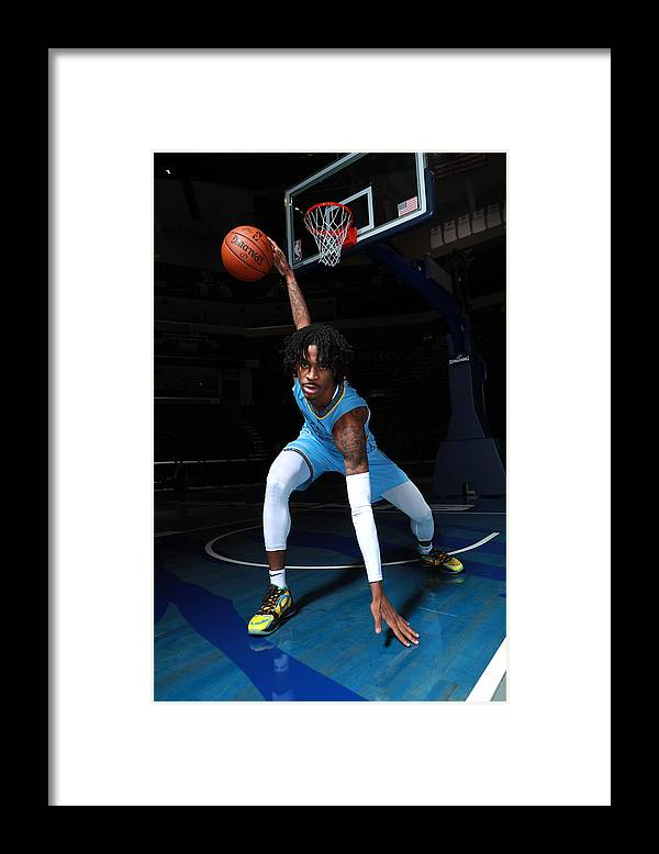 Media Day Framed Print featuring the photograph 2020-2021 Memphis Grizzlies Content Day by Joe Murphy